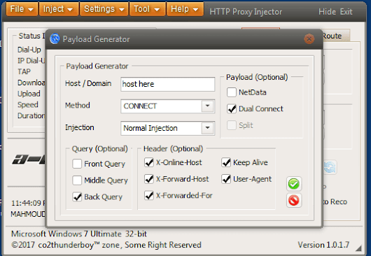 create http injector payload