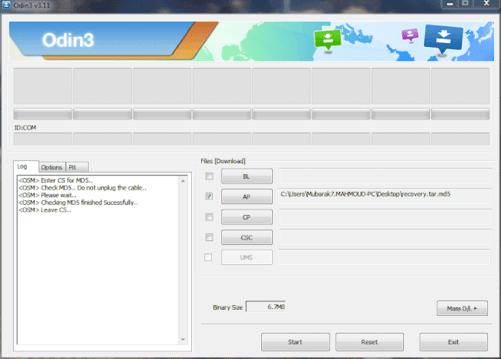 install twrp using odin downloader odin3-v3.11
