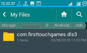 dream league file in main folder