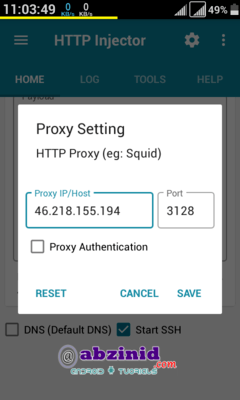 http injector remote proxy