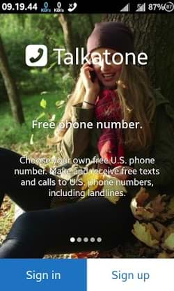 usa and canada free phone number talkatone